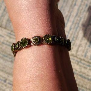 Stretch bracelet with rhinestones